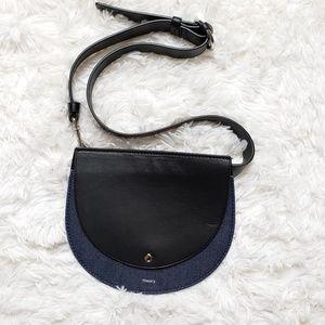Theory Post Saddle Leather Belt Bag Fanny Pack EUC